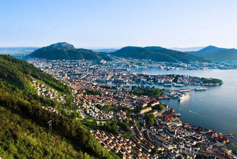 Fotka, Foto Bergen, panorama (Norsko)