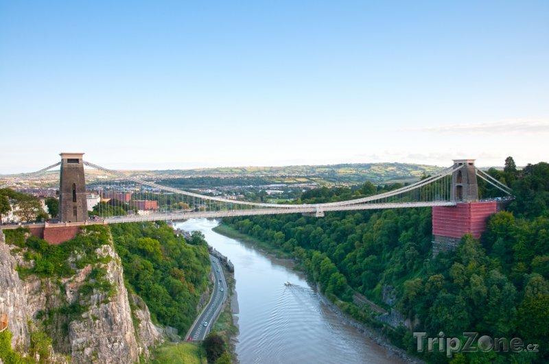 Fotka, Foto Bristol, visutý most Clifton (Velká Británie)