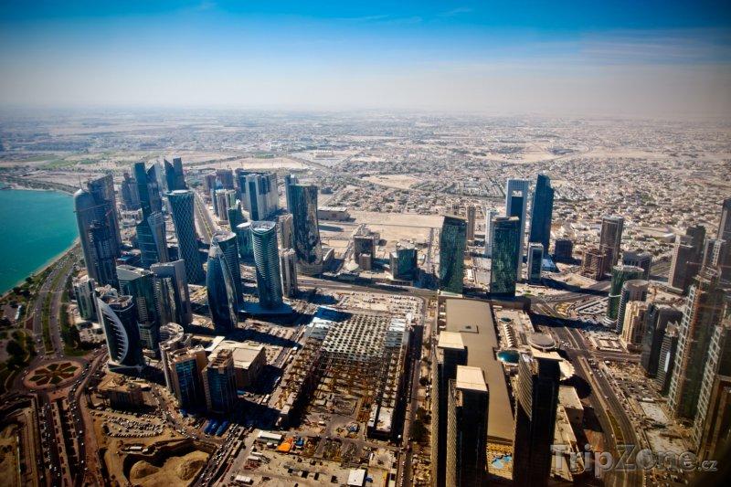 Fotka, Foto Dauhá, pohled na město z mrakodrapu (Katar)