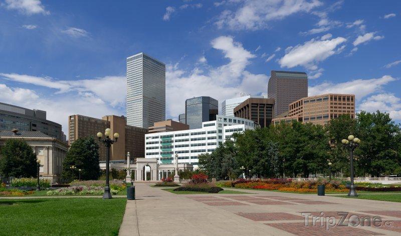 Fotka, Foto Denver, pohled na centrum z Civic Parku (USA)