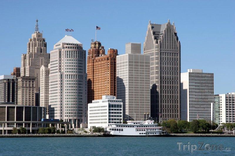 Fotka, Foto Detroit, finanční xcentrum města (USA)