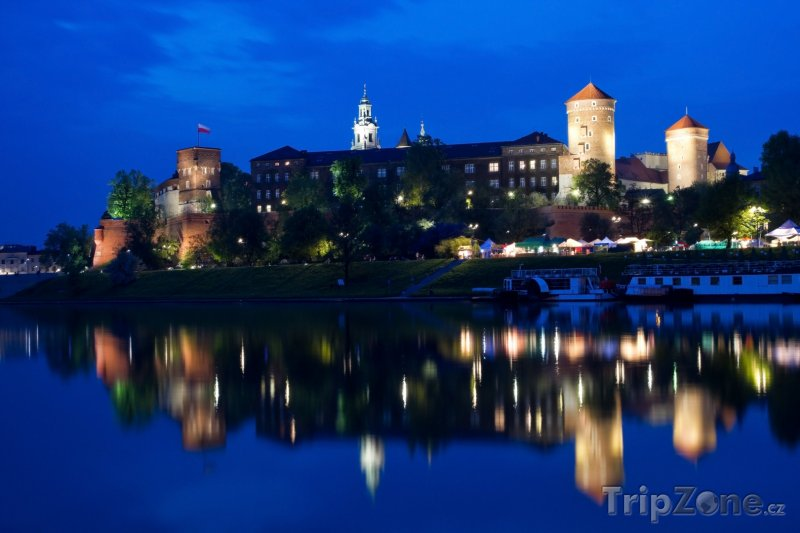 Fotka, Foto Hrad Wawel v noci (Krakov, Polsko)