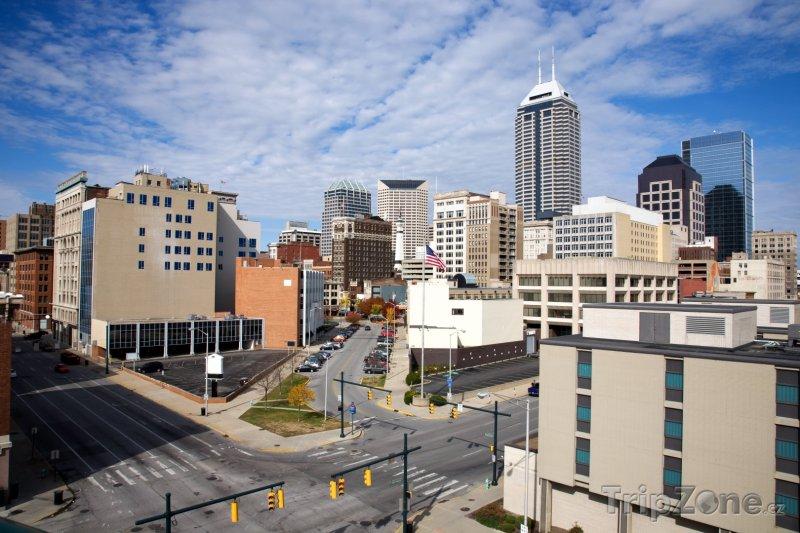 Fotka, Foto Indianapolis, centrum města (USA)