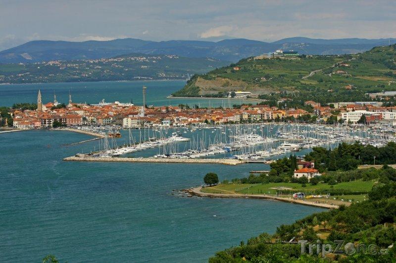 Fotka, Foto Izola, pohled na přístav (Slovinsko)