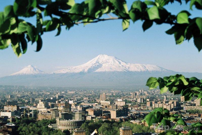 Fotka, Foto Jerevan, panorama města s horou Ararat (Arménie)