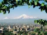 Jerevan, panorama města s horou Ararat