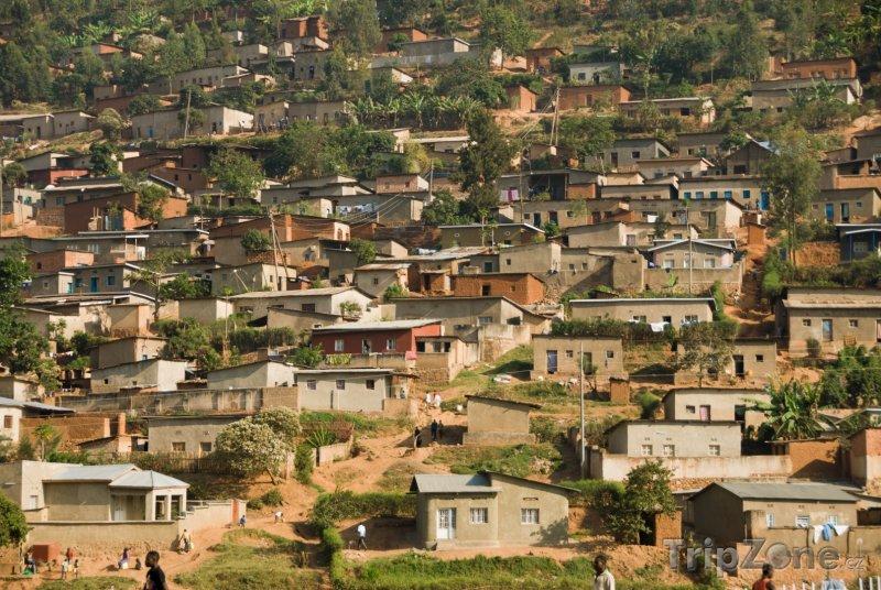 Fotka, Foto Kigali, domy na kopci