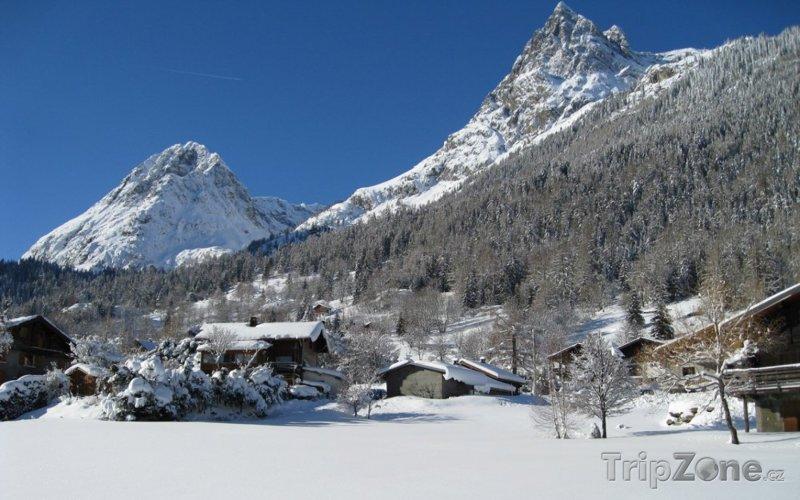 Fotka, Foto Le Domaine de Balme, vrcholek Vallorcine