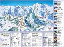 Mapa lyžařského střdiska Engelberg