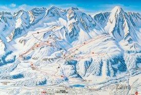 Mapa lyžařského střediska Airolo