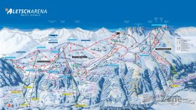 Mapa lyžařského střediska Aletsch Arena