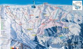 Mapa lyžařského střediska Arosa