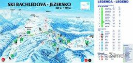 Mapa lyžařského střediska Bachledova - Jezersko