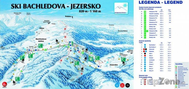 Fotka, Foto Mapa lyžařského střediska Bachledova - Jezersko