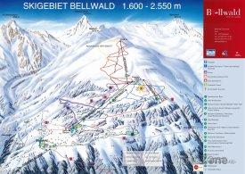 Mapa lyžařského střediska Bellwald