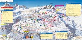 Mapa lyžařského střediska Braunchwald