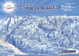 Mapa lyžařského střediska Champéry