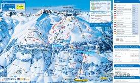 Mapa lyžařského střediska Elm