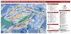 Mapa lyžařského střediska Fellhorn