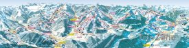 Mapa lyžařského střediska Flachau