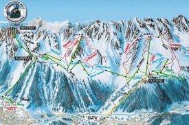 Mapa lyžařského střediska Flégère