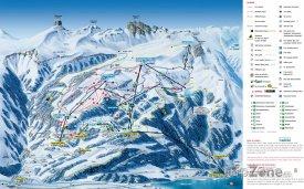 Mapa lyžařského střediska Flumserberg