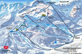 Mapa lyžařského střediska Garmisch-Partenkirchen