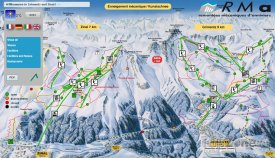 Mapa lyžařského střediska Grimentz