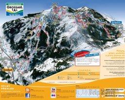 Mapa lyžařského střediska Grossarltal