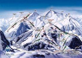 Mapa lyžařského střediska Hochfilzen-Buchensteinwand