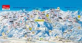 Mapa lyžařského střediska Hochfügen