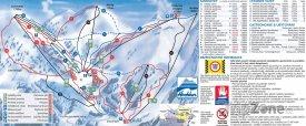 Mapa lyžařského střediska Hochkar