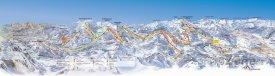Mapa lyžařského střediska Hochkönig