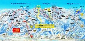 Mapa lyžařského střediska Hochzillertal
