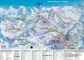 Mapa lyžařského střediska Ischgl