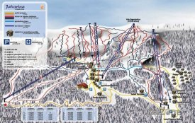 Mapa lyžařského střediska Jahorina
