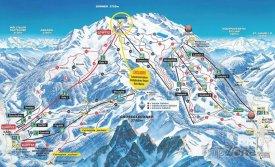 Mapa lyžařského střediska Kals-Matrei