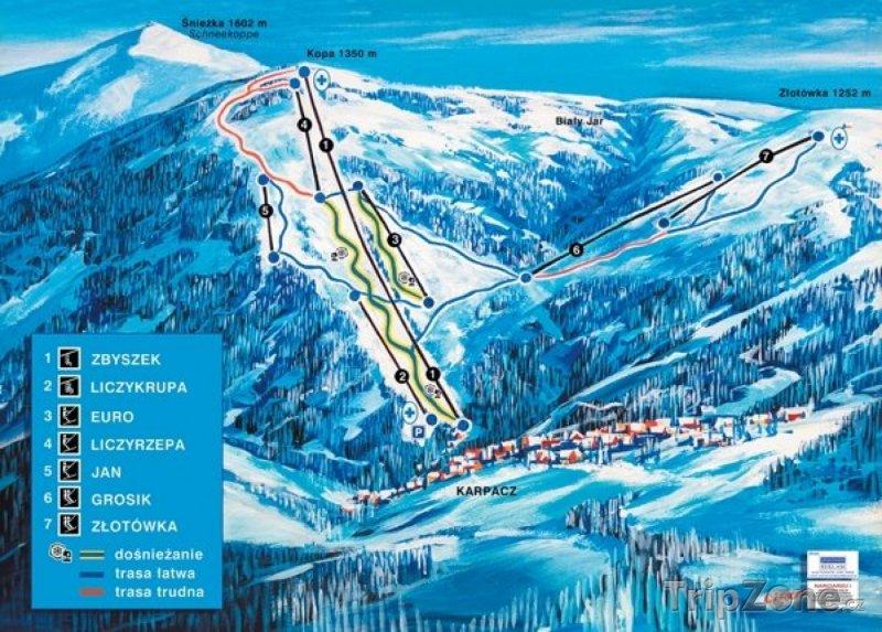 Fotka, Foto Mapa lyžařského střediska Karpacz