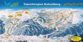 Mapa lyžařského střediska Katschberg