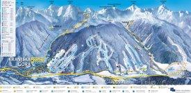 Mapa lyžařského střediska Kranjska Gora