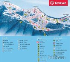 Mapa lyžařského střediska Krvavec