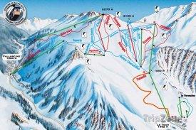 Mapa lyžařského střediska Le Domaine de Balme
