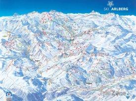 Mapa lyžařského střediska Lech