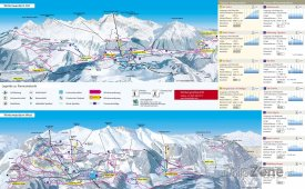 Mapa lyžařského střediska Lenzerheide-Valbella-Churwalden