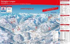 Mapa lyžařského střediska Lungau