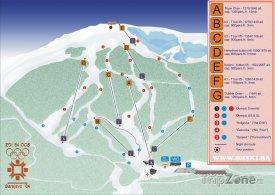 Mapa lyžařského střediska