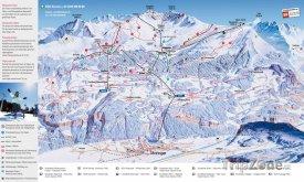 Mapa lyžařského střediska Meiringen-Hasliberg