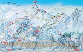 Mapa lyžařského střediska Mürren-Schilthorn