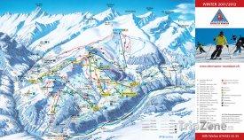 Mapa lyžařského střediska Obersaxen-Mundaun-Val Lumnezia
