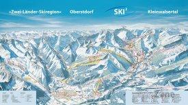 Mapa lyžařského střediska Oberstdorf